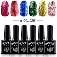 perfect summer uv led soak off gel nail polish shiny glitter