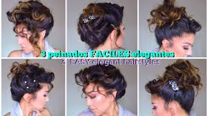 Easy Wedding Hairstyles For Short Hair by 3 Peinados Faciles Para Fiesta Easy Formal Updo Hairstyles