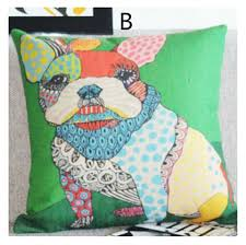 Decorative Dog Pillows Pop Art Colorful Sharpei Throw Pillows For Couch Dog Decorative