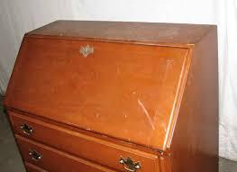 vintage maple secretary desk olde good things