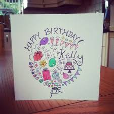 Doodle Birthday Card 42 Best Birthday Card Doodles Images On Pinterest Cards