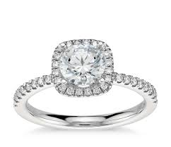engagement rings with halo arietta halo engagement ring in platinum 1 5 ct tw