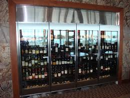 4 door wine case merchandise displays from borgen