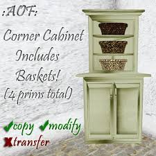 Shabby Chic Corner Cabinet by Second Life Marketplace Corner Cabinet Country Style Shabby Chic