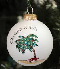 palm tree christmas ornament