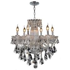 Chandelier Lamp Shades With Crystals by Clearance Chandeliers Hanging Lights The Home Depot