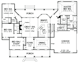 country open floor plans house plans country style country style house plan beds baths sq