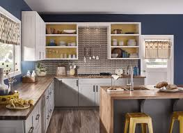 blue kitchen walls with brown cabinets 10 kitchen colour trends you ll want to about in 2019