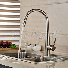 aliexpress com buy brass kitchen faucet swivel spout brushed