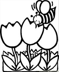 tulip coloring pages printable kids coloring