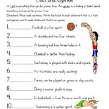 ideas collection fact and opinion worksheets 5th grade in free