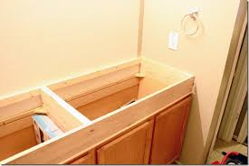 How To Build A Bathroom Vanity Remodelaholic How To Raise Up A Short Vanity