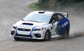 subaru rally car subaru brings new car and driver scores second at rallye défi