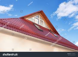 Dormers Roof Red Metal Tiled Roof New Dormers Stock Photo 414763963 Shutterstock