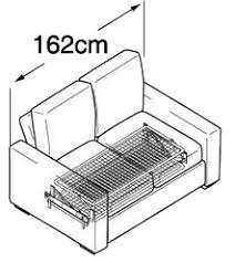 Alda Small  Seat Double Sofa Bed Nabru - Double sofa bed dimensions