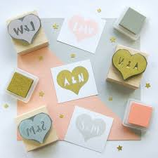 wedding invitations stamps personalised heart wedding rubber stamp gift by skull and cross