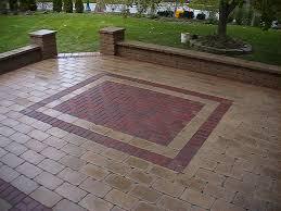 brick patio design patio circular paving stone brick ideas