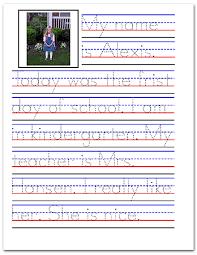 sample handwriting worksheets handwriting practice sample