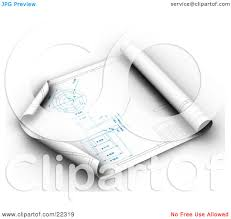 clipart illustration of an architect s blueprints partially rolled clipart illustration of an architect s blueprints partially rolled up with the corners curling by kj pargeter
