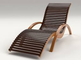Chaise Lounge Chair Patio Lounge Chair Outdoor Wood Patio Deck 3d Model Cgtrader