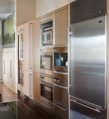 wolf steam oven kitchen contemporary with aquarium espresso