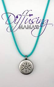 round locket necklace images Silver small round snowflake necklace diffusing mama 39 s jpg