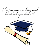 the journey was long and hard graduation free printable greeting