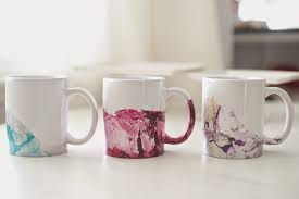 Design Mugs by Domestic Fashionista Diy Marbled Nail Polish Coffee Mugs