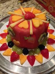 Watermelon Cake Decorating Ideas 9 Best Fruit Cake Images On Pinterest Fruit Cakes Watermelon