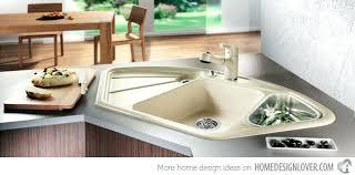 corner kitchen sink unit 15 cool corner kitchen sink designs home design lover corner sinks