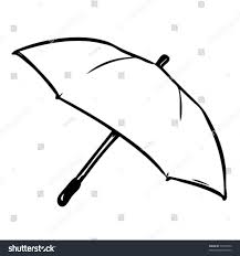 umbrella you can color yourself put stock vector 77078473