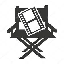 chaise r alisateur chaise réalisateur avec l icône du cinéma image vectorielle