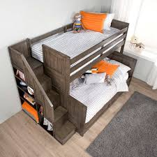 Amazing Double Bunk Beds With Stairs Ryan Twin Over Double Bunk - Double double bunk bed