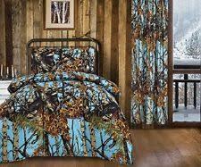 Blue Camo Bed Set Microfiber Cowboy Western Comforters Bedding Sets Ebay