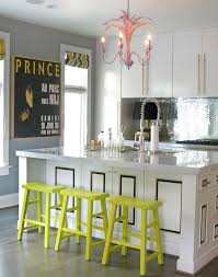 kitchen decorating ideas with accents 18 brilliant kitchen bar stools that add a serious pop of color