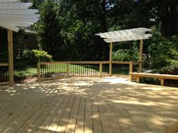 Sunscreen Patios And Pergolas by Deck And Pergola Combinations Custom Decks Porches Patios