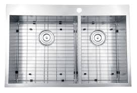 Kitchen Sinks Drop In Double Bowl by Ruvati Rvh8050 Drop In Overmount 16 Gauge 33