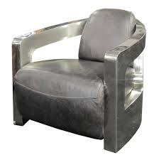 Leather Club Chair Four Hands Carnegie Sinclair Grey Leather Club Chair With Shinny