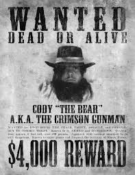 wanted poster halloween 2008 by cody church on deviantart