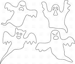 vector ghosts outline of cartoon company of ghosts vector image 33926 u2013 rfclipart