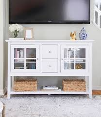 decorating my white tv stand featuring walker edison furniture