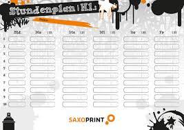 stundenplan designen dein trendiger stundenplan zum ausdrucken saxoprint