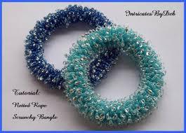bead bangle bracelet images Tutorial beaded netted rope scrunchy bangle bracelet jewelry jpg