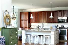 wood kitchen cabinets with white island your kitchen cabinets using fall colors my wee abode