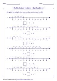 multiplication number line worksheets free worksheets library