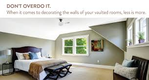 9 design decor ideas for apartments with vaulted ceilings don t over do the decor in a vaulted ceiling room