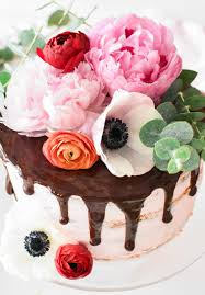 chocolate flowers chocolate covered strawberry birthday cake with fresh flowers