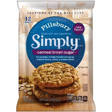 pillsbury simply oatmeal brown sugar cookies 14 oz pack