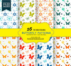 colorful butterfly patterns photoshop free brushes