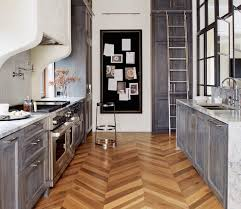 driftwood cabinets kitchen transitional with gray black pantry